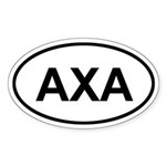 Anguilla AXA Oval Sticker