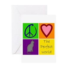 Perfect World: Cats - Greeting Card