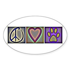 Peace Love Dogs (ALT) - Oval Decal