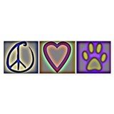 Peace Love Dogs (ALT) - Bumper Car Sticker