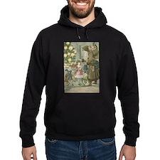 St. Nick with Children Hoodie (dark)
