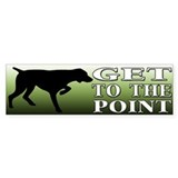 GET TO THE POINT Bumper Sticker (10 pk)