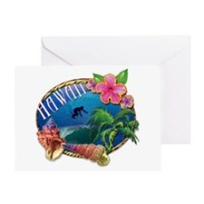Surf Hawaii Greeting Card