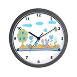 Blue baby design Wall Clock