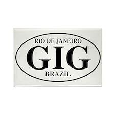 GIG Rio de Janeiro Rectangle Magnet