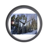 Ski Park City - Scenic Wall Clock