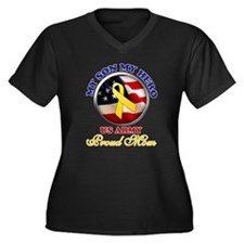 Proud Mom Women's Plus Size V-Neck Dark T-Shirt