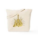 Golden Winged Violin Tote Bag
