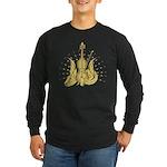 Golden Winged Violin Long Sleeve Dark T-Shirt
