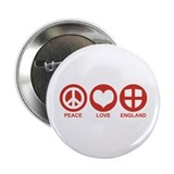 "Peace Love England 2.25"" Button"