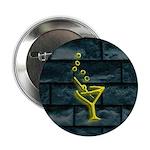 Yellow Dive Bar Neon & Brick Martini Button