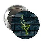 Green Dive Bar Neon & Brick Martini Button