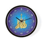 Golden Winged Violin Wall Clock