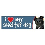 I Love My Shelter Dog bumper sticker