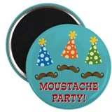 Moustache Party Magnet