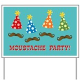 Moustache Party Yard Sign