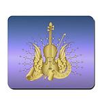 Golden Winged Violin Mousepad