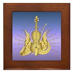 Golden Winged Violin Framed Tile