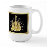 Golden Winged Violin Large Mug