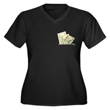 Fake Money Pocket Women's Plus Size Dark