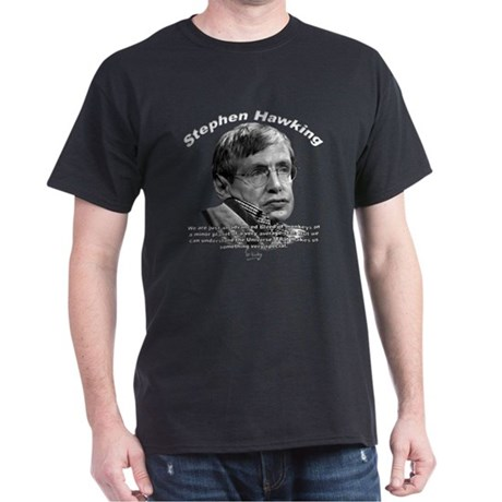 Stephen Hawking 01 Black T-Shirt