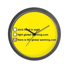 Unique There is no global warming Wall Clock