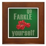 Cute Farkle Framed Tile