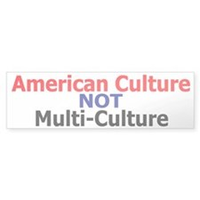 American Culture Bumper Bumper Sticker
