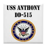 USS ANTHONY Tile Coaster