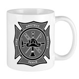 Maltese Cross - Monochrome Protect & Serve Coffee Mug