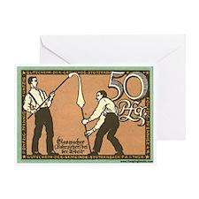 Glassblowing Team Greeting Card