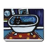 Schipperke bath moon smile Mousepad