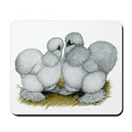 Silkie Chickens Self Blue Mousepad