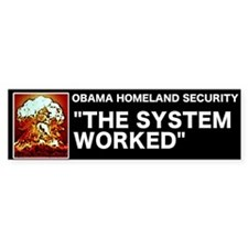 Obama Homeland Security Bumper Bumper Sticker