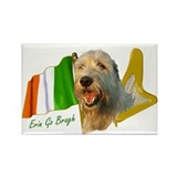 Irish Wolfhound Flag and Harp Rectangle Magnet