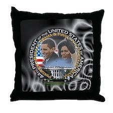Obamas - Throw Pillow