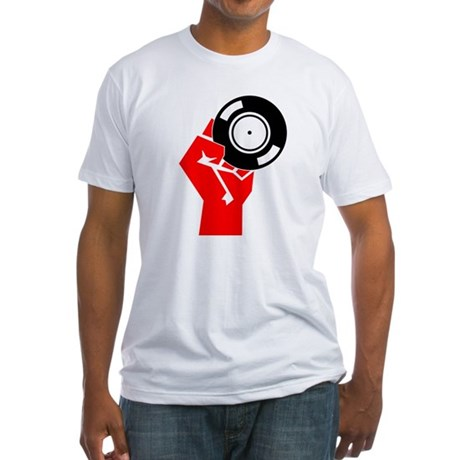 Vinyl Propaganda Fitted T-Shirt