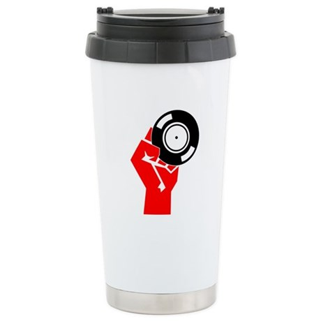 Vinyl Propaganda Ceramic Travel Mug