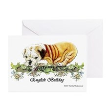 Vintage Bulldog Pup Greeting Cards (Pk of 10)