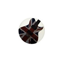 Union Jack Electric Guitar Mini Button (10 pack)