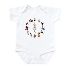AROUND ALICE Infant Bodysuit