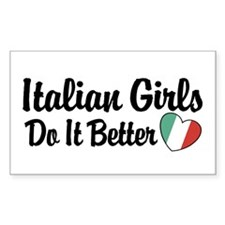 Italian Girls Do It Better Rectangle Decal