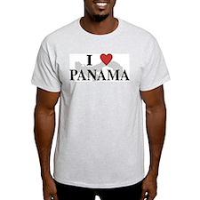 I Love Panama Ash Grey T-Shirt