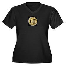 1960 Women's Plus Size V-Neck Dark T-Shirt