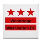 Woodridge - D.C . Flag Inspir Tile Coaster
