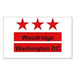 Woodridge - D.C . Flag Inspir Rectangle Sticker