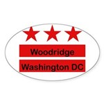Woodridge - D.C . Flag Inspir Oval Sticker (10 pk)