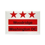 Woodridge - D.C . Flag Inspir Rectangle Magnet