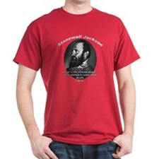Stonewall Jackson 01 Black T-Shirt