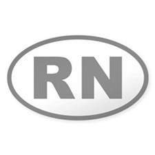 RN Oval Decal